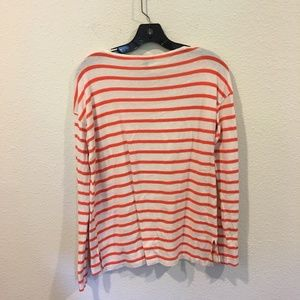 J. Crew Tops - J. Crew red and white striped long sleeve top